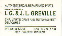 I.G & J.L Greville Auto Electrical Service